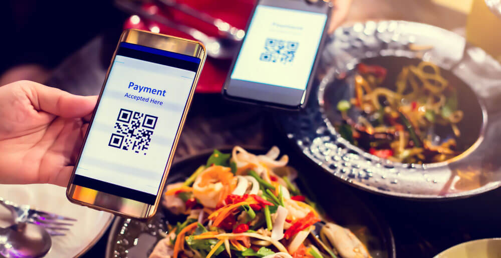 Pay with a QR code