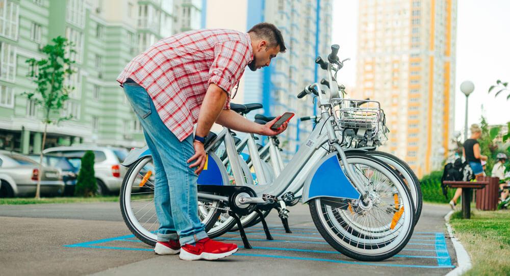 QR scanning on bike share