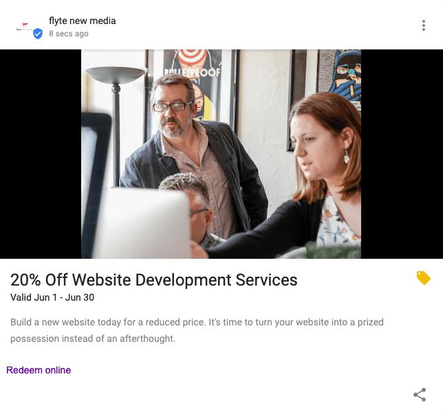 Discount Google Post