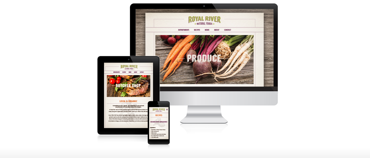 Maine Web Design for Royal River Natural Foods by flyte new media