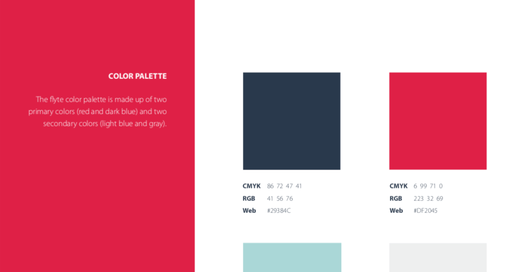 flyte color palette