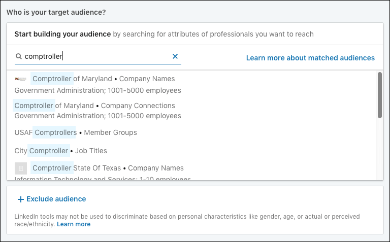 Targeting in LinkedIn Ads