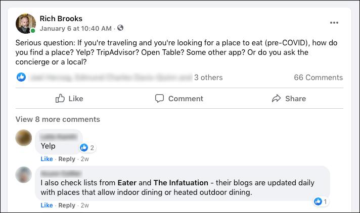 Ask people on social media