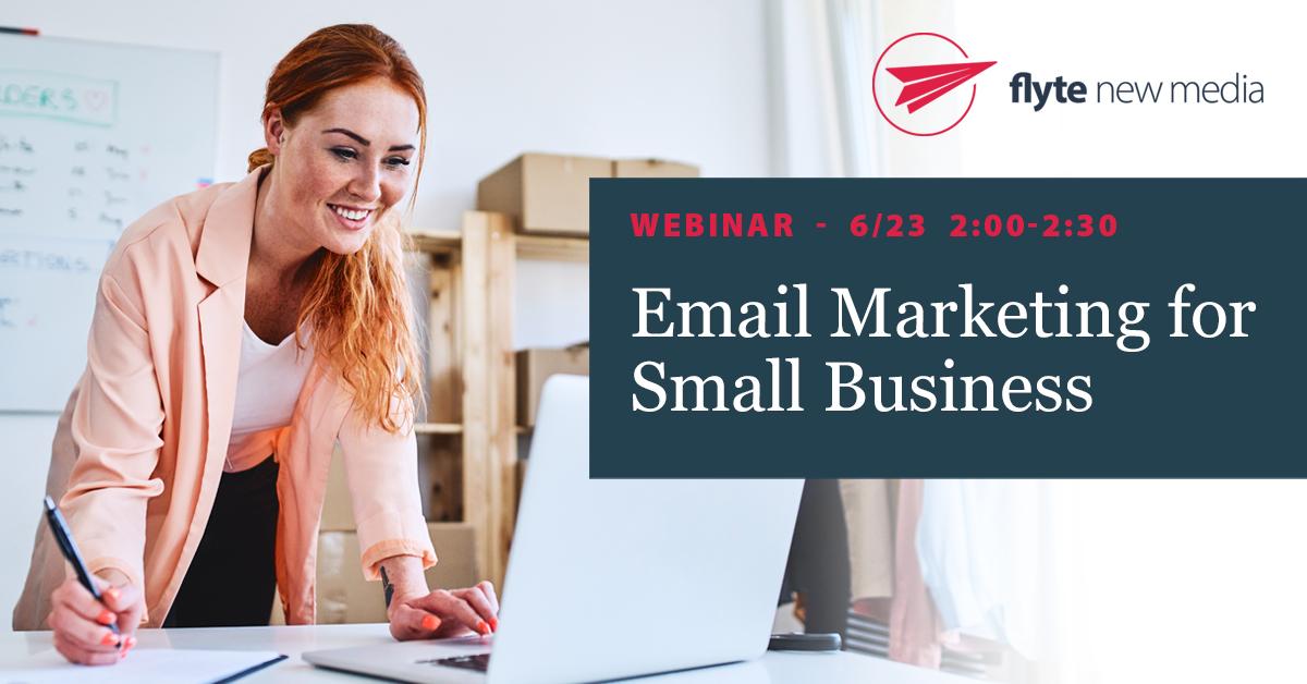Email marketing webinar ad for social media