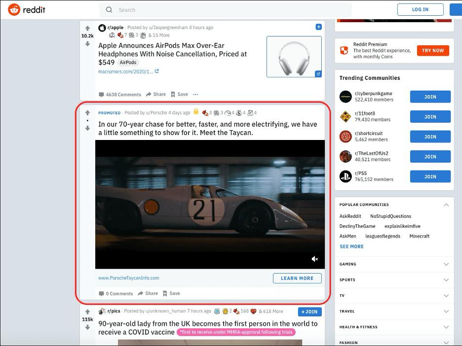 Reddit Ad - flyte new media