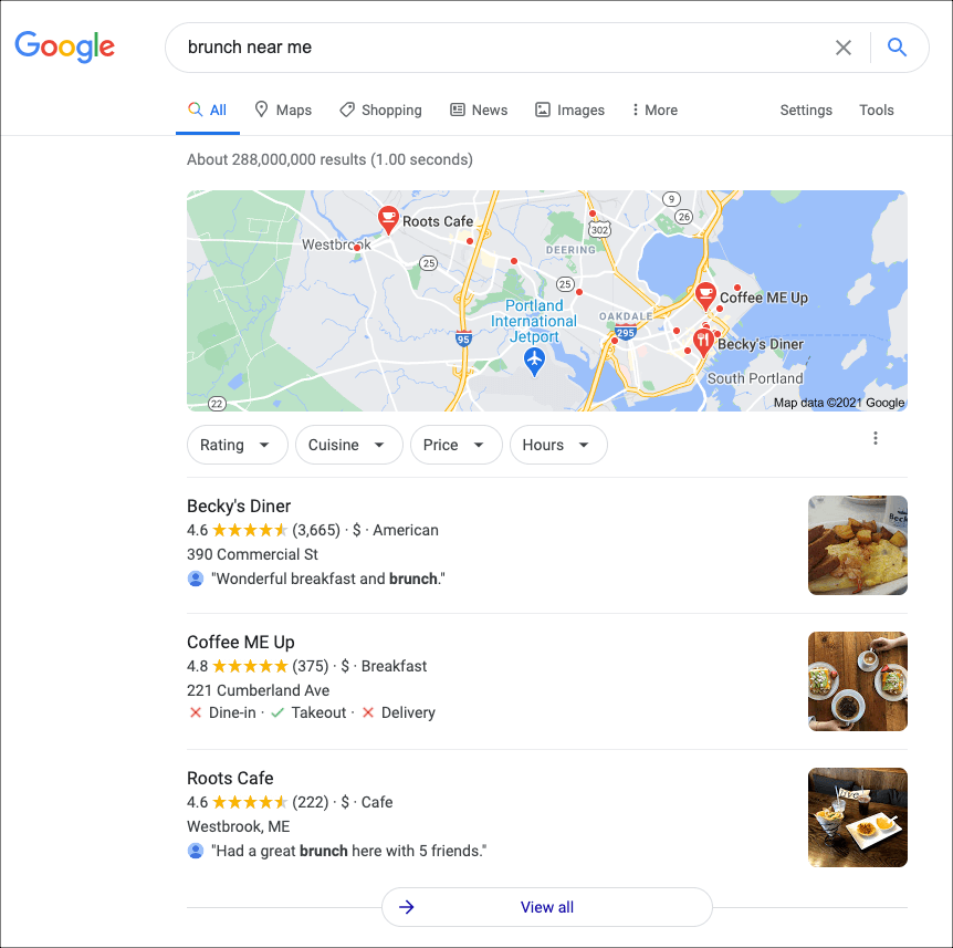 Local Pack in Google Results